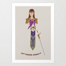 The Legend of Zelda - Princess Zelda Art Print