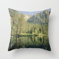 Merced River II Throw Pillow