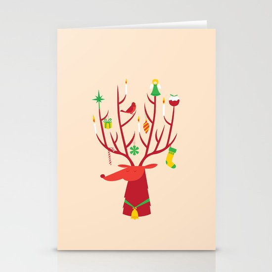 Reindeer Stationery Card