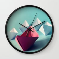Boats Wall Clock