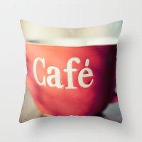 Café Throw Pillow