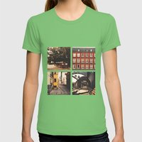 Madrid's lines Womens Fitted Tee Grass SMALL
