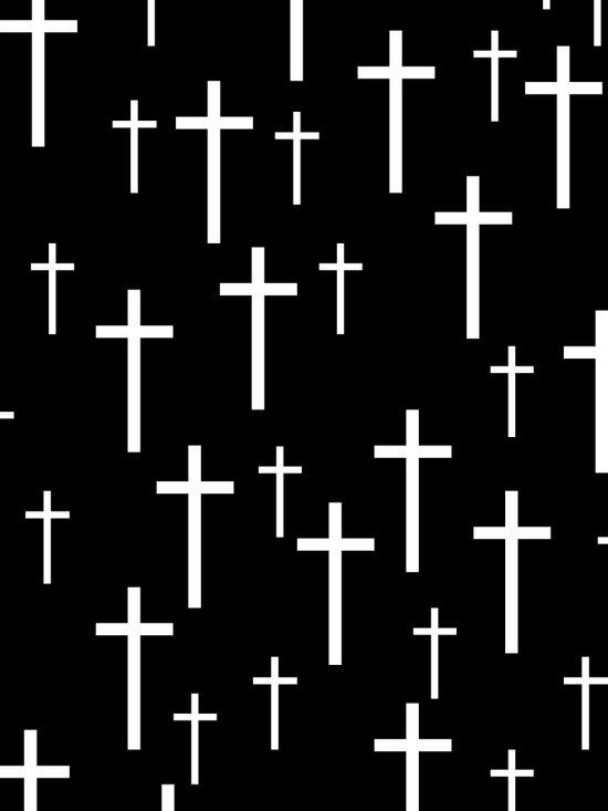 Crosses (Black) Art Print