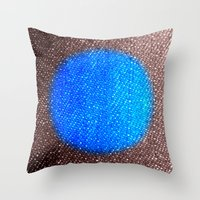 Fabric-like Blue Throw Pillow
