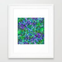 Floral Abstract Stained Glass G295 Framed Art Print