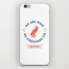 Aristotle - We are what we repeatedly do. Greek iPhone & iPod Skin