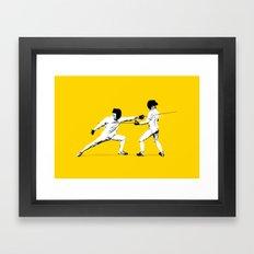 The Duel Framed Art Print