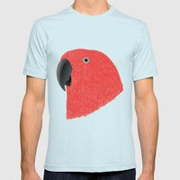 Eclectus [Female] Parrot Mens Fitted Tee Light Blue SMALL