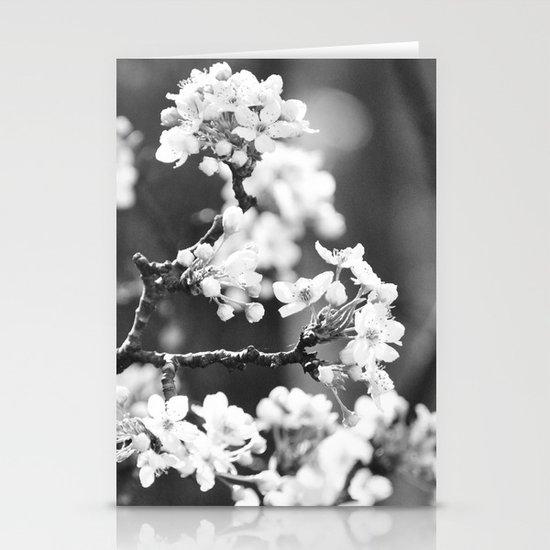 Pear Blossom B/W Stationery Card