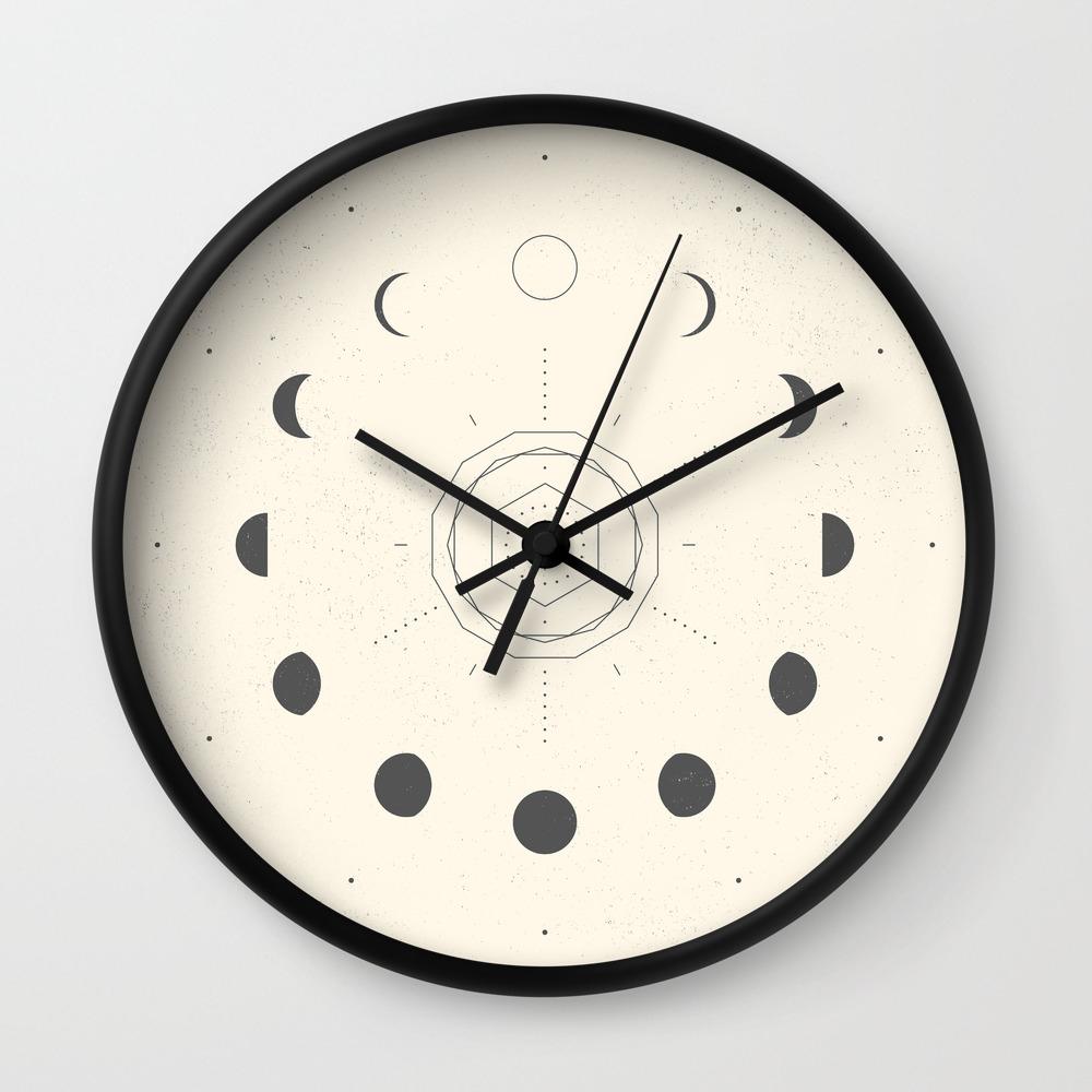 moon phases light wall clock blank wall clock frei