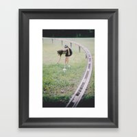 Distance And Time Framed Art Print