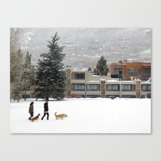 Snow Dogs I Canvas Print