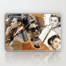 Audrey Hepburn - Ripped Paper Style - Laptop & iPad Skin
