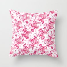 Pink Fantasy Digital Painting Throw Pillow