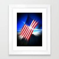 American Diamond Framed Art Print