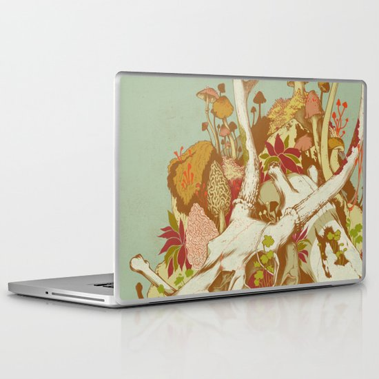 skulls in spring Laptop & iPad Skin