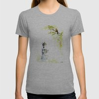 Cats  Womens Fitted Tee Athletic Grey SMALL