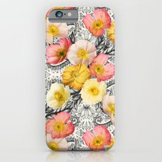 Collage Of Poppies And P… iPhone 6 Slim Case
