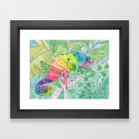 Trying to Fit in Framed Art Print