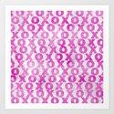 xoxo (hot pink) Art Print