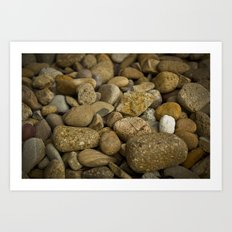 Lonely white pebble Art Print