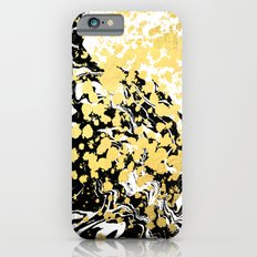 Sukie - abstract gold black and white foil glitter shiny sparkle hipster painting free spirit cosmic iPhone 6 Slim Case