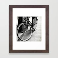 Bike Detail Framed Art Print