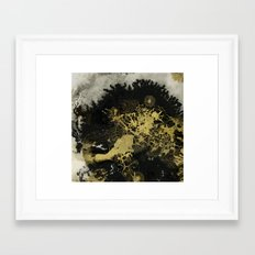 Black and gold Framed Art Print