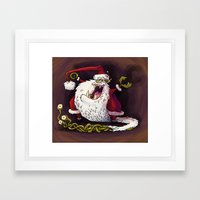 Santa Claws Revisited Framed Art Print