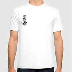 slipped em the mickey White Mens Fitted Tee SMALL