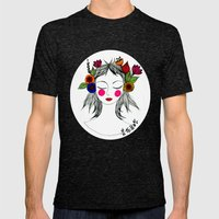 Blooming in peace Mens Fitted Tee Tri-Black SMALL