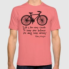 Life is like riding a bicycle... Mens Fitted Tee Pomegranate SMALL