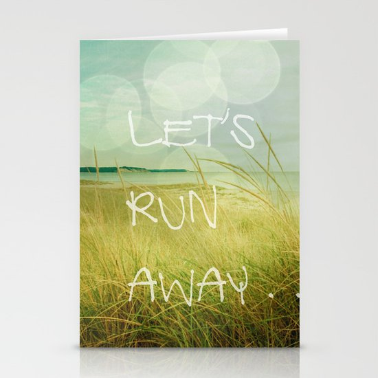 Let's Run Away Stationery Card