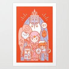 The Legend of Adventure [8-bit] Art Print