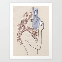 Put The Mask Upon The Fa… Art Print