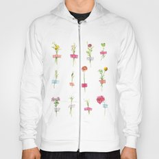 Watercolor Washi Tape Sprigs Hoody