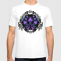 Pink Bloom Mens Fitted Tee White SMALL