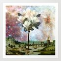 The Angel and the Magnolia tree Art Print
