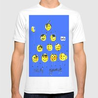 support happiness Mens Fitted Tee White SMALL