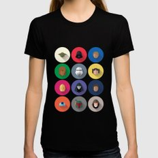 Icon Set Minimalist Poster Womens Fitted Tee Black MEDIUM