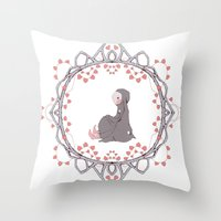 Young Bunny Throw Pillow