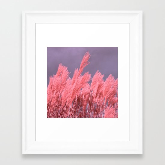 pastel grass Framed Art Print