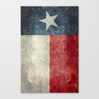 Texas State Flag, Vertic… Canvas Print