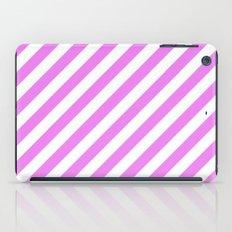 Diagonal Stripes (Violet/White) iPad Case