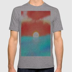 Blazing Sun Mens Fitted Tee Athletic Grey SMALL