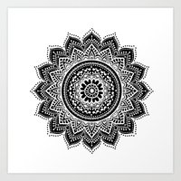 mandala Art Prints featuring mandala by haroulita