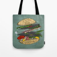 Vinyl Burger Tote Bag