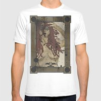 Medusa Print Mens Fitted Tee White SMALL