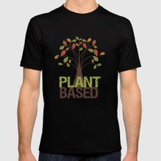 Plant Based Fall Tree Mens Fitted Tee Black SMALL