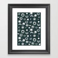 Seaflower Mono Framed Art Print